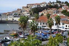 Porto de pesca colorido de Madeira de Camara de Lobos Imagem de Stock Royalty Free