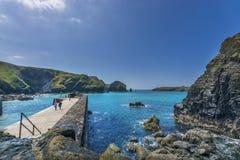 Porto de pesca da angra de Mullen e quebra-mar históricos Imagem de Stock Royalty Free