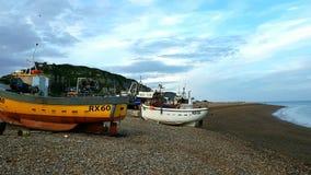 Porto de pesca de Hastings Fotografia de Stock