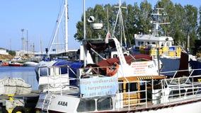 Porto de pesca de Kolobrzeg, Polônia Foto de Stock Royalty Free
