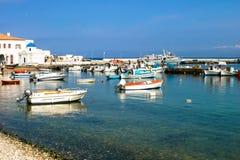 Porto de pesca grego Fotografia de Stock