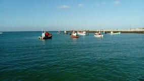 Porto de pesca pequeno Imagens de Stock