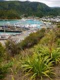 Porto de Picton, Nova Zelândia Imagem de Stock Royalty Free