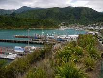Porto de Picton, Nova Zelândia Foto de Stock