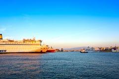 Porto de Piraeus Imagens de Stock Royalty Free