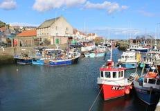 Porto de Pittenweem dos barcos de pesca, pífano, Escócia Foto de Stock Royalty Free