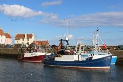 Porto de Pittenweem dos barcos de pesca, pífano, Escócia Imagens de Stock Royalty Free
