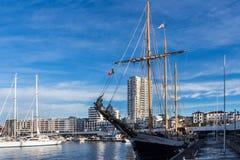 Porto de Ponta Delgada, S Miguel, Açores imagens de stock