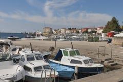 Porto de Porec em Croatia Imagem de Stock
