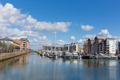 Porto de Portishead perto de Bristol Somerset England Reino Unido Fotos de Stock Royalty Free
