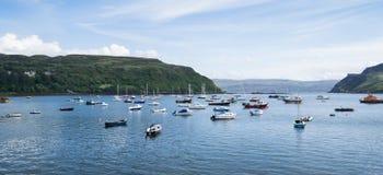 Porto de Portree, scotland fotografia de stock royalty free
