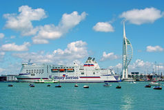 Porto de Portsmouth Foto de Stock Royalty Free