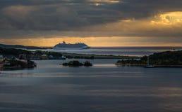 Porto de Roatan no Hondures fotografia de stock royalty free