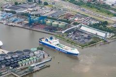 Porto de Rotterdam Fotografia de Stock Royalty Free