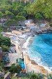 Porto de Sa Calobra e mar Mediterrâneo, Majorca Foto de Stock