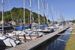 Porto de Saint Brieuc em França Foto de Stock