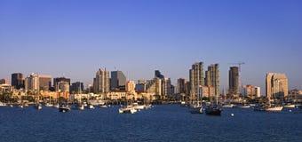 Porto de San Diego no fim da tarde Imagens de Stock Royalty Free