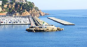 Porto de Sant Feliu de Guixols Imagens de Stock Royalty Free