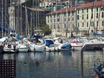 Porto de Savona Italia fotografia de stock