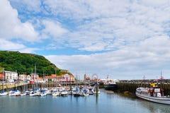 Porto de Scarborough fotografia de stock royalty free