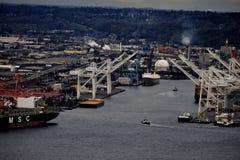 Porto de Seattle Imagens de Stock Royalty Free