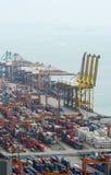 Porto de Singapore Imagens de Stock Royalty Free