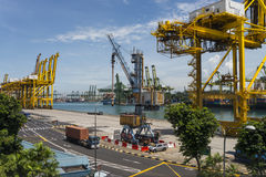 Porto de Singapura Fotos de Stock Royalty Free