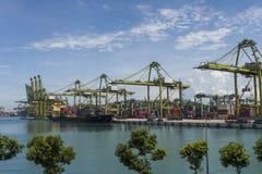 Porto de Singapura Fotografia de Stock