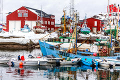 Porto de Sisimiut Imagens de Stock