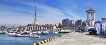 Porto de Sochi Imagem de Stock Royalty Free