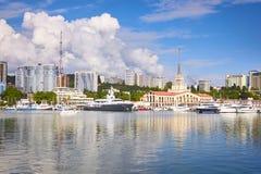 Porto de Sochi, Rússia foto de stock royalty free