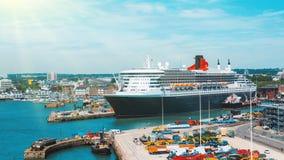 Porto de Southampton, Inglaterra foto de stock royalty free