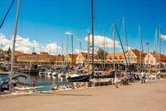 Porto de Svaneke Imagem de Stock