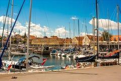 Porto de Svaneke Foto de Stock Royalty Free