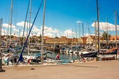 Porto de Svaneke Imagens de Stock Royalty Free