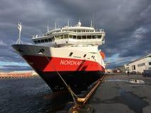 Porto de Svolvær, Noruega Foto de Stock