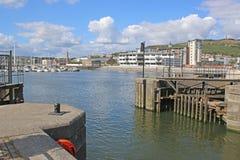 Porto de Swansea fotos de stock royalty free