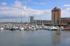 Porto de Swansea imagem de stock