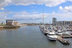 Porto de Swansea, Gales imagens de stock royalty free