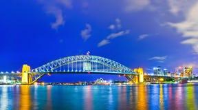 Porto de Sydney na noite Fotografia de Stock