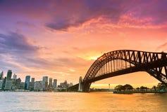 Porto de Sydney no crepúsculo Foto de Stock