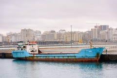 Porto de Tânger, Marrocos Foto de Stock