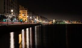 Porto de Tessalónica e torre branca Fotografia de Stock