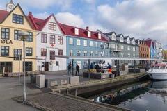 Porto de Torshavn, Ilhas Faroé, Dinamarca Fotos de Stock