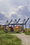 Porto de transporte Foto de Stock Royalty Free