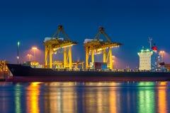 Porto de transporte Fotografia de Stock Royalty Free