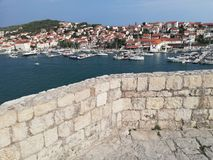 Porto de Trogir fotografia de stock royalty free