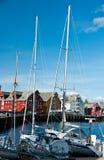 Porto de Tromso, Noruega fotografia de stock royalty free
