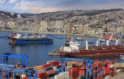 Porto de Valparaiso fotos de stock