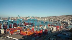 Porto de Valparaiso, o Chile video estoque